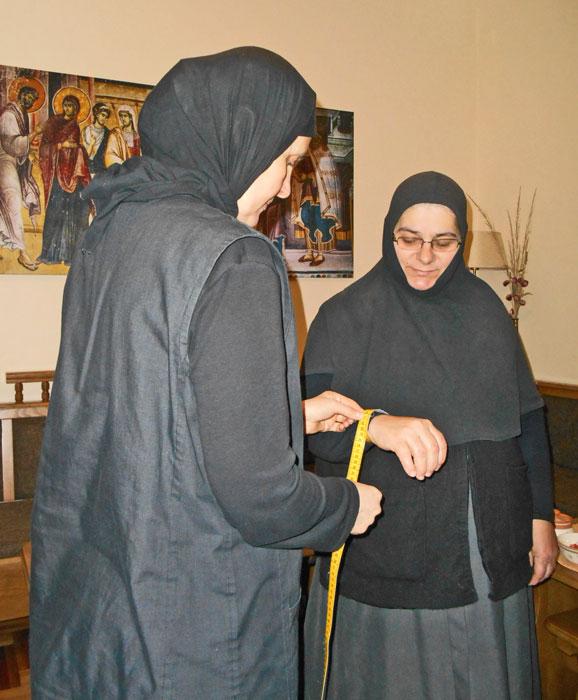 Радионица за шивење православног манастира Ковиље